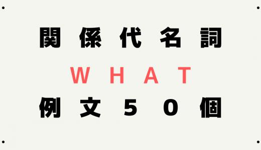 関係代名詞whatが使われる例文を50個紹介!